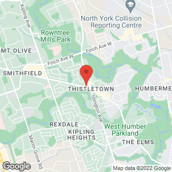 Map of Tim Hortons at 1130 Albion Rd, Etobicoke, ON M9V 1A6