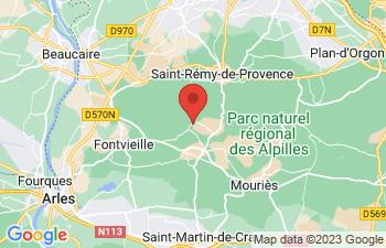 Map of Les Baux-De-Provence
