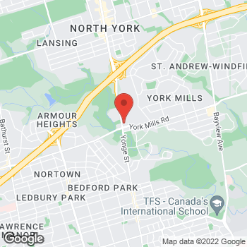 Map of Tim Hortons at 4025 Yonge St, North York, ON M2P 2E3