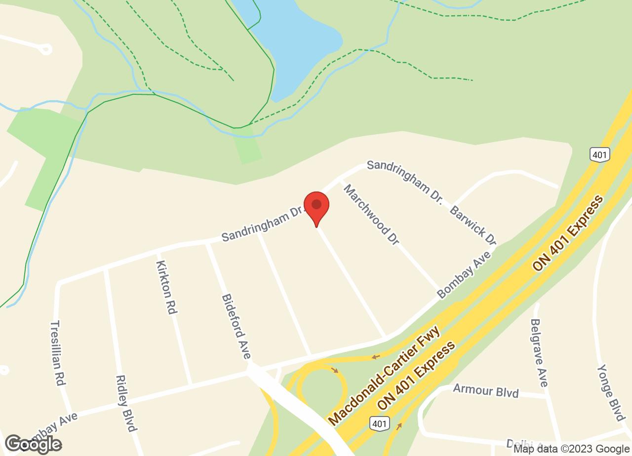 Google Map of Don Mills Veterinary Practice