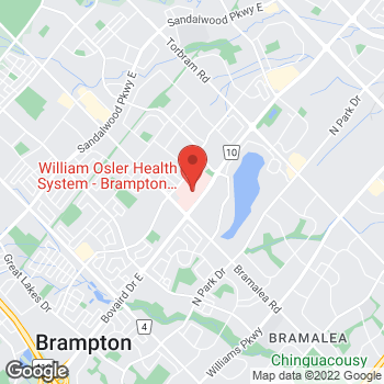 Map of Tim Hortons at 2100 Bovaird Dr East, Brampton, ON L6R 3J7