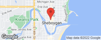 Map of 807 Center Ave in Sheboygan