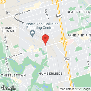 Map of Tim Hortons at 3514 Weston Rd, North York, ON M9L 1V6