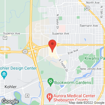 Map of Bed Bath & Beyond at 3347 Kohler Memorial Drive, Sheboygan, WI 53081