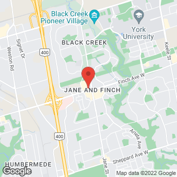 Map of Tim Hortons at 4000 Jane St, North York, ON M3N 2K2