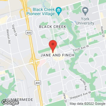 Map of Tim Hortons at 1 York Gate Blvd, North York, ON M3N 3A1