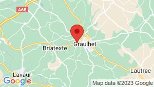 Carte de localisation du centre de contrôle technique Graulhet