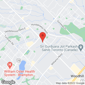 Map of Tim Hortons at 9936 Airport Rd, Brampton, ON L6S 0C5