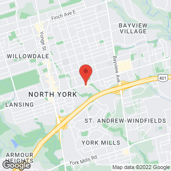 Map of Tim Hortons at 185 Sheppard Ave East, Toronto, ON M2N 3A8