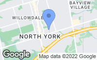 Map of North York, ON