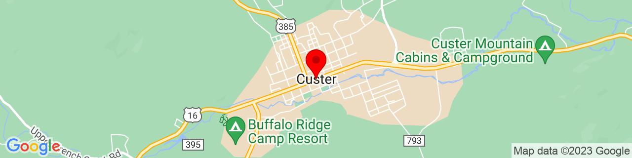 Google Map of 43.7666507, -103.5988057