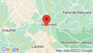 Carte de localisation du centre de contrôle technique REALMONT