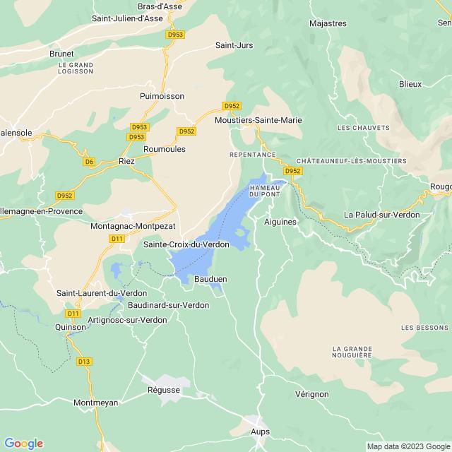 Locatie Lac de Sainte-Croix
