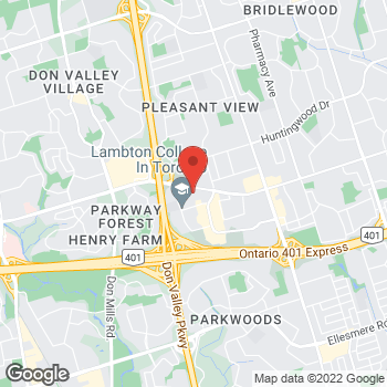 Map of Tim Hortons at 2075 Sheppard Ave E, Toronto, ON M2J 1W6