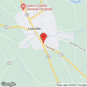 Map of Arby's at 7416 S State Street, Lowville, NY 13367-1715