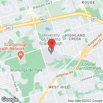 Map of Tim Hortons at 1265 Military Trail, Scarborough, ON M1C 1A4