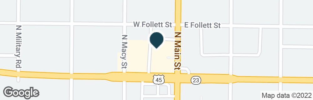 Google Map of192 N MAIN ST