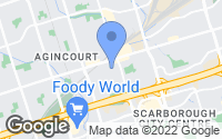 Map of Scarborough, ON