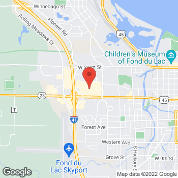 Map of CJ Banks at 835 West Johnson Street, #E02, Fond du Lac, WI 54935
