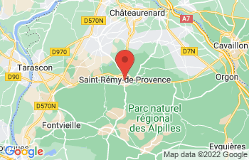 Map of Saint-Remy-De-Provence