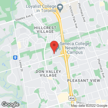 Map of Tim Hortons at 1750 Finch Ave East, North York, ON M2J 2X5