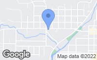 Map of Cottage Grove, OR