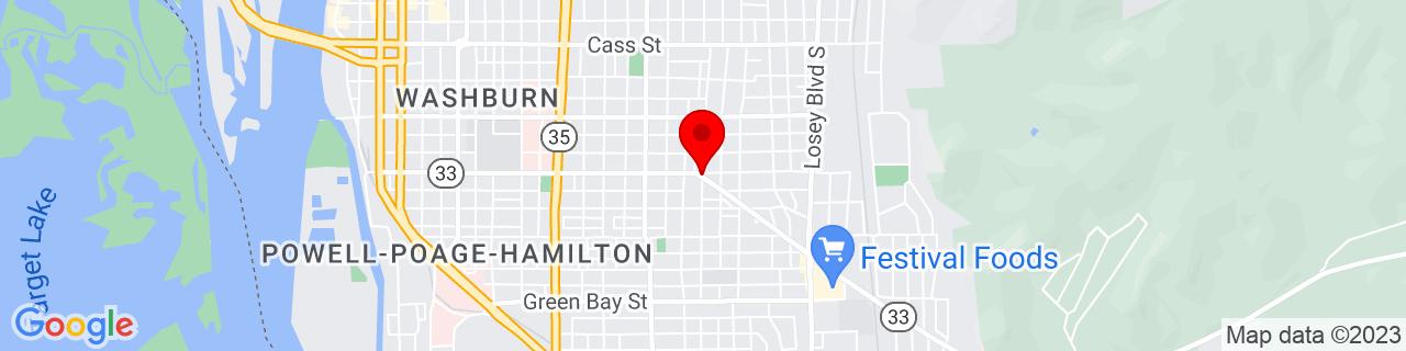 Google Map of 43.8013343, -91.2283185
