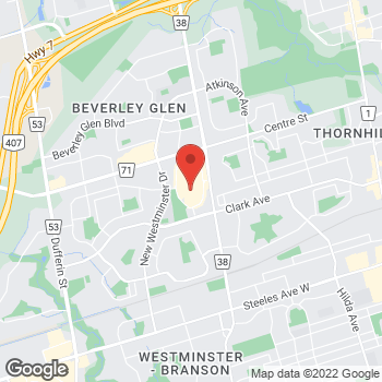 Map of LensCrafters at One Promenade Circle, Thornhill, ON L4J 4P8