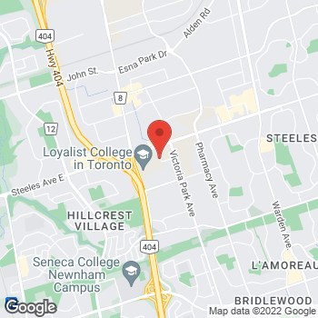 Map of Tim Hortons at 3389 Steeles Ave East, North York, ON M2H 3S7