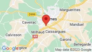 Carte de localisation du centre de contrôle technique NIMES