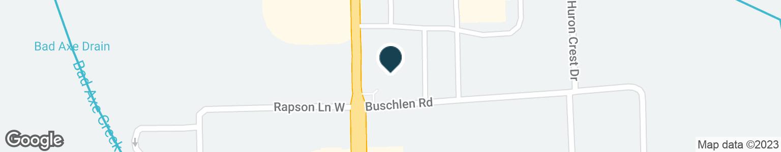 Google Map of830 N VAN DYKE RD