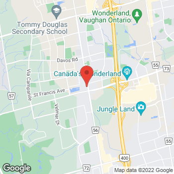 Map of Tim Hortons at 9200 Weston Rd, Vaughan, ON L4L 1A6