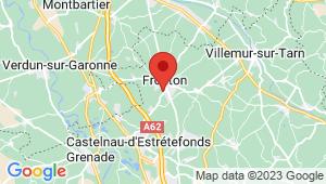 Carte de localisation du centre de contrôle technique FRONTON