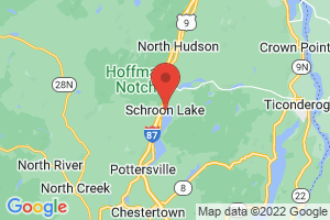 Map of Schroon Lake