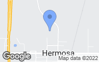 Map of Hermosa, SD