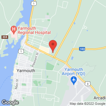 Map of Staples Print & Marketing Services at 110 Starrs Road, Yarmouth, NS B5A 2T5