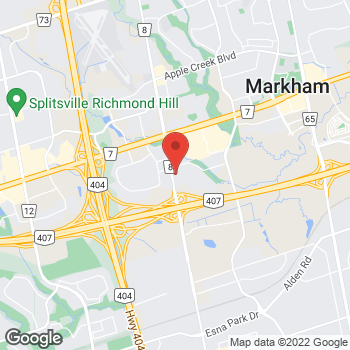 Map of Tim Hortons at 8291 Woodbine Ave, Markham, ON L3R 2P4