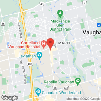 Map of Tim Hortons at 9801 Jane St, Vaughan, ON L6A 3N9