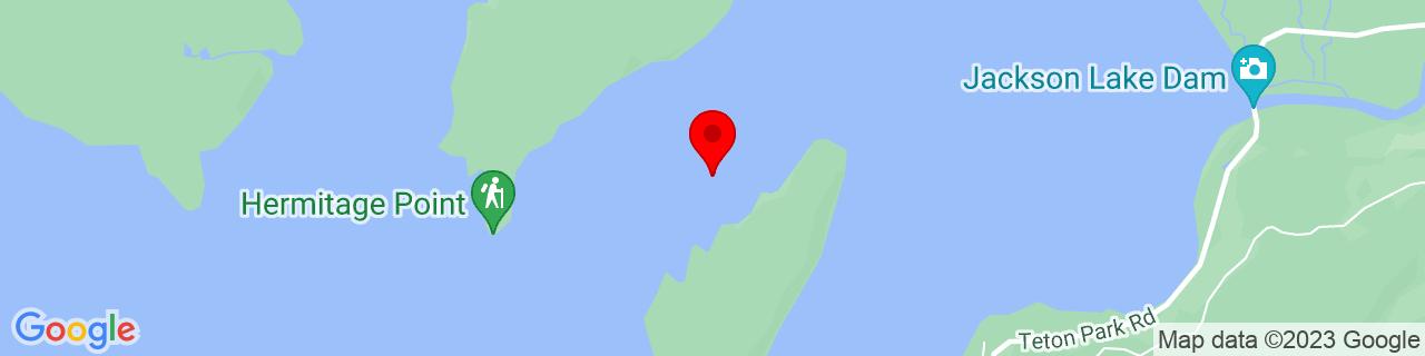 Google Map of 43.853632, -110.6314491