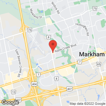 Map of Tim Hortons at 8801 Woodbine Ave, Markham, ON L3R 5W9