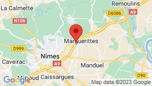 Carte de localisation du centre de contrôle technique MARGUERITTES