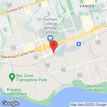 Map of Bed Bath & Beyond at 1751 Victoria Street East, Whitby, ON L1N9W4