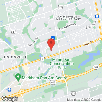 Map of LensCrafters at 5000 Highway 7, Markham, ON L3R 4M9