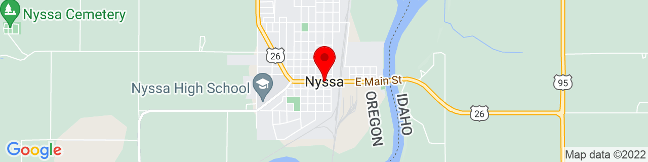Google Map of 43.8768289, -116.9948804