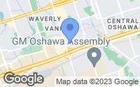 Map of Oshawa, ON