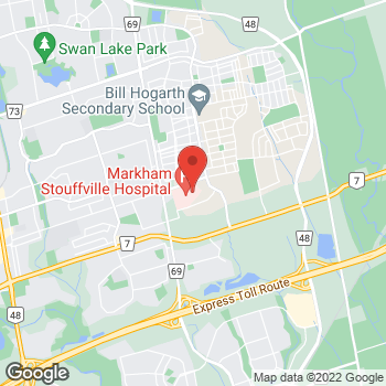 Map of Tim Hortons at 381 Church St, Markham, ON L3P 7P3