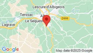 Carte de localisation du centre de contrôle technique PUYGOUZON