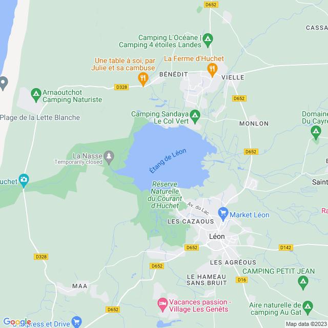 Locatie Étang de Léon