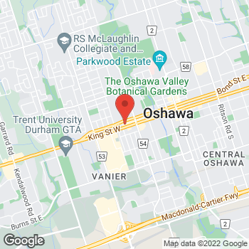 Map of Burger King at 338 King St West, Oshawa, ON L1J 2J9