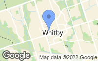 Map of Whitby, ON